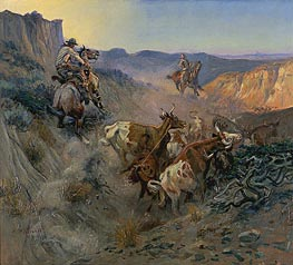 Charles Marion Russell   The Slick Ear, 1914   Giclée Canvas Print