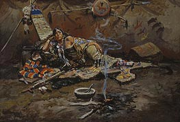 Charles Marion Russell   Waiting and Mad, 1899   Giclée Canvas Print