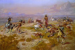 Charles Marion Russell   The Death Song of Lone Wolf, 1901   Giclée Canvas Print