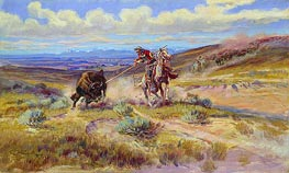 Charles Marion Russell   Spearing a Buffalo, 1925   Giclée Canvas Print