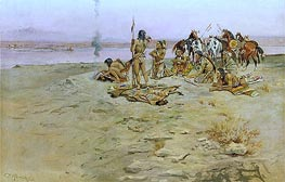Charles Marion Russell   The Signal Fire, 1897   Giclée Canvas Print