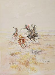 Charles Marion Russell   Cowboys Roping a Steer, 1904   Giclée Paper Print