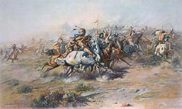 Charles Marion Russell | The Custer Fight, c.1903/05 | Giclée Paper Print