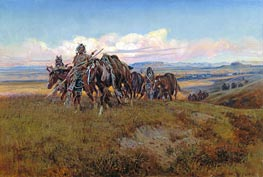 Charles Marion Russell | In the Enemy's Country, 1921 | Giclée Canvas Print