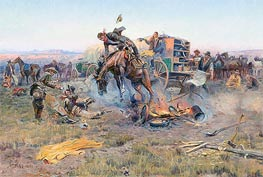 Charles Marion Russell | The Camp Cook's Troubles, 1912 | Giclée Canvas Print