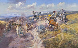 Charles Marion Russell | A Tight Dally and a Loose Latigo, 1920 | Giclée Canvas Print