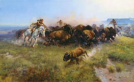 Charles Marion Russell | The Buffalo Hunt, 1919 | Giclée Canvas Print