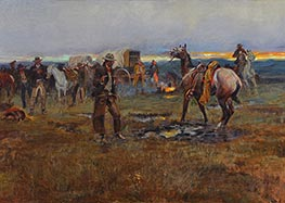 Charles Marion Russell | When Horses Talk There's Slim Chance for Truce, 1915 | Giclée Canvas Print
