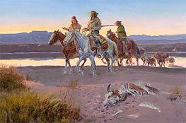 Charles Marion Russell | Carson's Men | Giclée Canvas Print