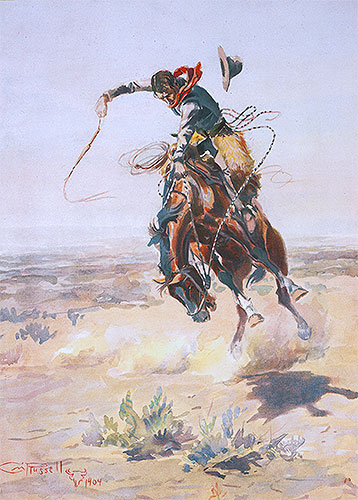 A Bad Hoss, 1904 | Charles Marion Russell | Giclée Paper Print