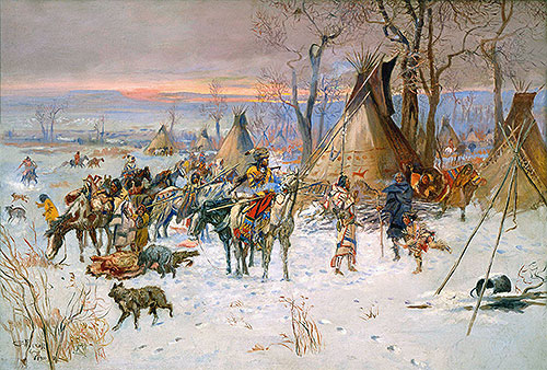 Indian Hunters' Return, 1900 | Charles Marion Russell | Giclée Canvas Print