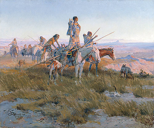 In the Wake of the Buffalo Runners, 1911 | Charles Marion Russell | Giclée Canvas Print