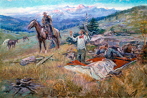 Charles Marion Russell | The Call of the Law, 1911 | Giclée Canvas Print