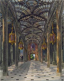 Charles Wild | The Conservatory at Carlton House from Pyne's Royal Residences, 1819 | Giclée Paper Print
