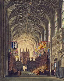 Charles Wild | Interior of St. George's Chapel, Windsor Castle, 1819 | Giclée Paper Print