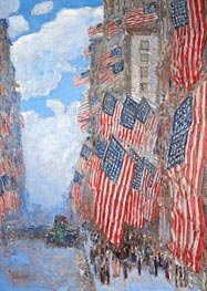 Hassam | The Fourth of July, 1916 | Giclée Canvas Print