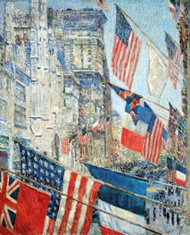 Hassam | Allies Day, May 1917 | Giclée Canvas Print