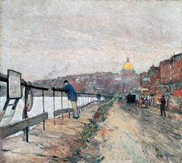 Hassam | Charles River and Beacon Hill | Giclée Canvas Print