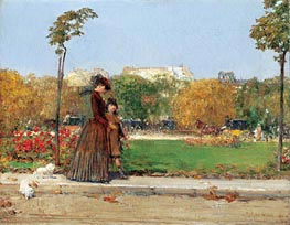 Hassam   In the Park   Giclée Canvas Print