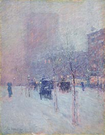 Hassam   Late Afternoon, New York, Winter   Giclée Canvas Print