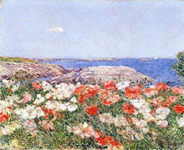 Hassam | Poppies on the Isles of Shoals | Giclée Canvas Print
