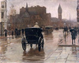 Hassam | Columbus Avenue, Rainy Day | Giclée Canvas Print