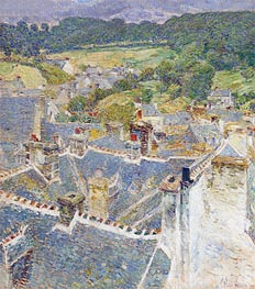 Hassam | Rooftops, Pont-Aven, Brittany | Giclée Canvas Print