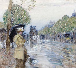 Hassam | Rainy Day on the Avenue | Giclée Paper Print