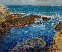 Hassam   Entrance to the Siren's Grotto, Isle of Shoals   Giclée Canvas Print