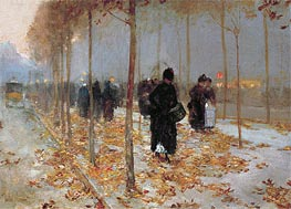 Hassam | Paris Street Scene, Autumn | Giclée Canvas Print
