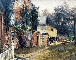Hassam | Old House, Nantucket, c.1882 | Giclée Paper Print