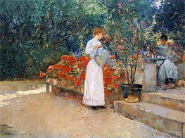 Hassam | After Breakfast, 1887 | Giclée Canvas Print