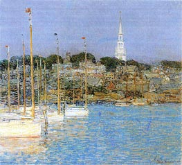 Hassam | Cat Boats, Newport, 1901 | Giclée Canvas Print