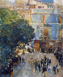 Hassam | Square at Sevilla, 1910 | Giclée Canvas Print