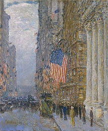 Hassam | Flags on the Waldorf | Giclée Canvas Print