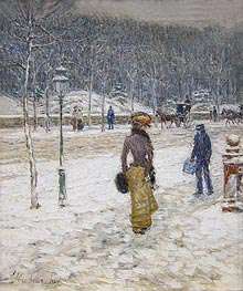 Hassam | New York Street, 1902 | Giclée Canvas Print