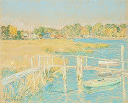 Hassam   Up the River, Late Afternoon, October, 1906   Giclée Paper Print