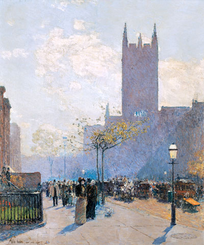 Lower Fifth Avenue, 1890   Hassam   Painting Reproduction