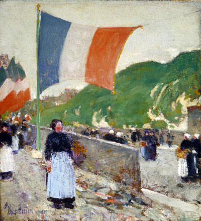 Montmartre: July 14, 1889   Hassam   Painting Reproduction