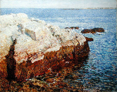 Cliff Rock, Appledore, 1903   Hassam   Painting Reproduction
