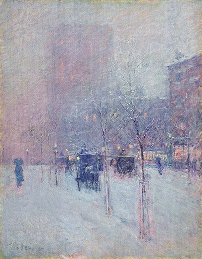 Late Afternoon, New York, Winter, 1900 | Hassam | Painting Reproduction