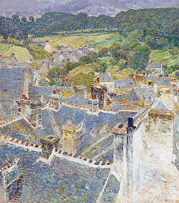 Rooftops, Pont-Aven, Brittany, 1897   Hassam   Giclée Canvas Print