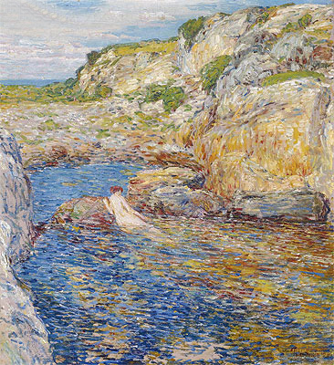 Rockweed Pool, 1902   Hassam   Painting Reproduction