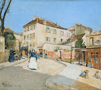 Montmartre, 1889 | Hassam | Painting Reproduction