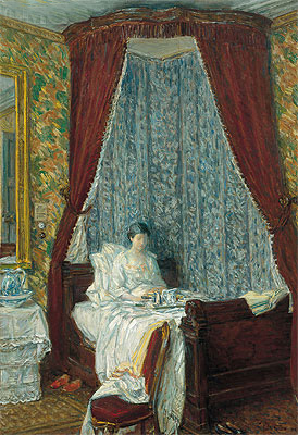 The French Breakfast, 1910   Hassam   Painting Reproduction