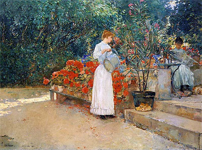 After Breakfast, 1887 | Hassam | Giclée Canvas Print