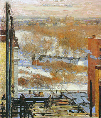 The Hovel and the Skyscraper, 1904 | Hassam | Giclée Canvas Print