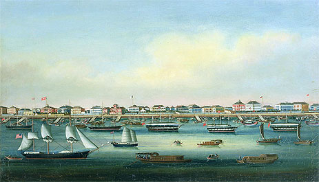 The Bund, Shanghai, undated | Chinese School | Painting Reproduction