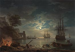 Claude-Joseph Vernet | Moonlight, 1772 | Giclée Canvas Print