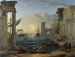 Claude Lorrain | Seaport with the Embarkation of the Queen of Sheba | Giclée Canvas Print